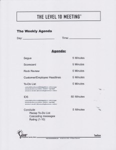 level 10 meeting template